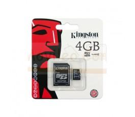 TARJETA MEMORIA MICROSD 4GB KINGSTON