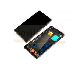 Pantalla Completa con Marco Negro para Sony Xperia Z L36 L36h C6602 C6603