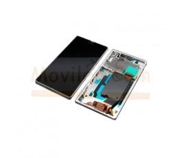 Pantalla Completa con Marco Blanco para Sony Xperia Z L36 L36h C6602 C6603