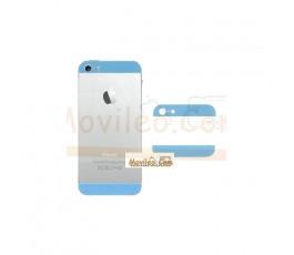 Carcasa embellecedor superior e inferior azul clarito para iPhone 5
