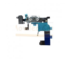 Flex conector de carga microfono y jack para iPhone 5S Blanco