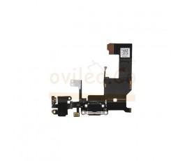 Flex conector de carga microfono y jack para iPhone 5S Negro