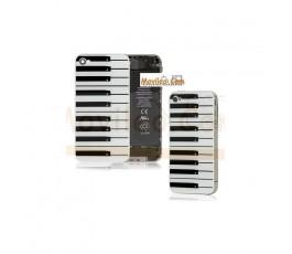 Carcasa trasera, tapa de batería teclado de piano para iPhone 4