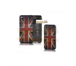 Carcasa trasera, tapa de batería bandera Reino Unido para iPhone 4