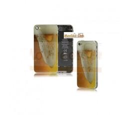 Carcasa trasera, tapa de batería modelo cerveza 2 para iPhone 4