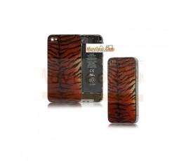 Carcasa trasera, tapa de batería modelo tigre 3 para iPhone 4