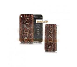 Carcasa trasera, tapa de batería modelo serpiente para iPhone 4