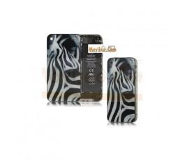 Carcasa trasera, tapa de batería zebra para iPhone 4
