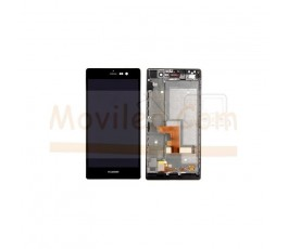 Pantalla Completa Con Marco para Huawei Ascend P7 Negra