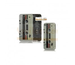 Carcasa trasera, tapa de batería cinta de cassette para iPhone 4