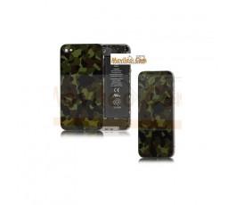 Carcasa trasera, tapa de batería camuflaje para iPhone 4