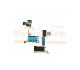 Flex Lector Tarjeta Sim y Micro SD para Sony Xperia M2 S50H D2303 D2305 D2306