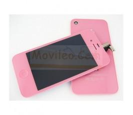 Kit Completo Rosa iPhone 4G Pantalla + Tapa + Botón home
