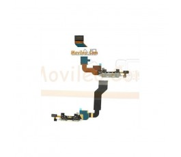 Cable flex con Conector de carga y accesorios blanco para Apple iPhone 4S