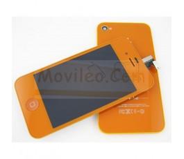 Kit Completo Naranja iPhone 4S Pantalla + Tapa Naranja + Botón home Naranja