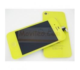 Kit Completo Amarillo iPhone 4S Pantalla + Tapa + Botón home