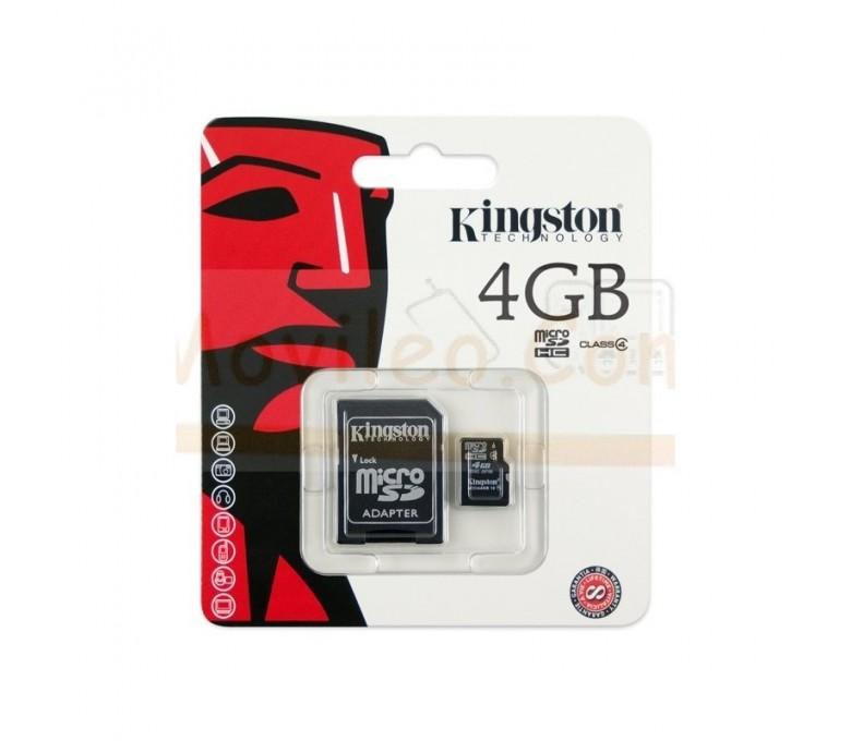 TARJETA MEMORIA MICROSD 4GB KINGSTON - Imagen 1