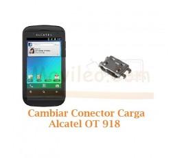 Cambiar Conector Carga Alcatel OT-918 OT918 - Imagen 1