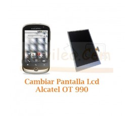 Cambiar Pantalla Lcd Alcatel OT990 OT-990 - Imagen 1