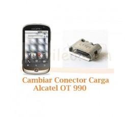 Cambiar Conector Carga Alcatel OT990 OT-990 - Imagen 1