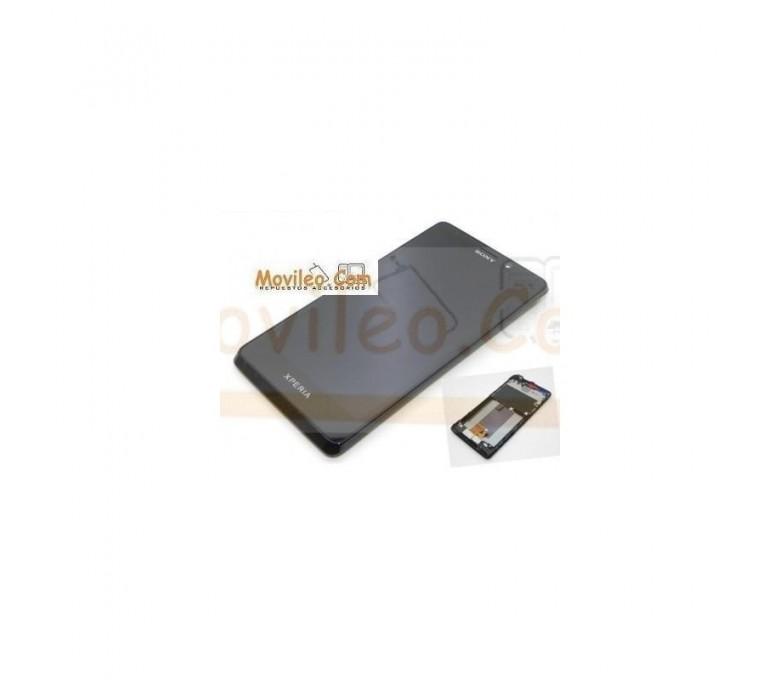 Pantalla Completa Con Marco negra para Sony Xperia LT30 - Imagen 1