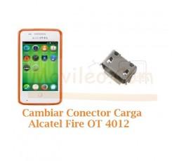 Cambiar Conector Carga Alcatel Fire OT4012 OT-4012 - Imagen 1