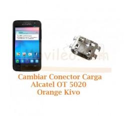 Cambiar Conector Carga Alcatel OT5020 OT-5020 Orange Kivo - Imagen 1
