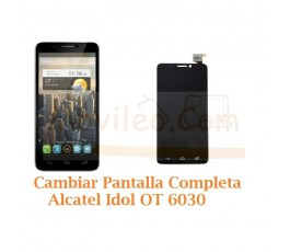 Cambiar Pantalla Completa Alcatel Idol OT6030 OT-6030 Orange San Remo - Imagen 1