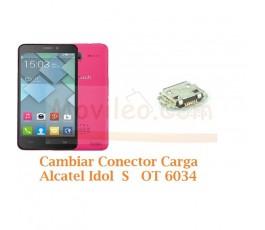 Cambiar Conector Carga Alcatel Idol S  OT6034 OT-6034 - Imagen 1