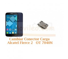 Cambiar Conector Carga Alcatel Fierce 2 OT7040N OT-7040N - Imagen 1