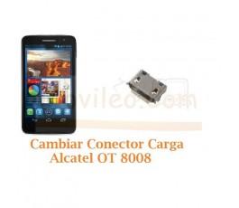 Cambiar Conector Carga Alcatel OT8008 OT-8008 - Imagen 1
