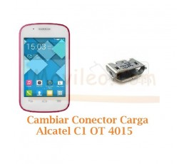 Cambiar Conector Carga Alcatel C1 OT4015 OT-4015 - Imagen 1