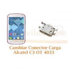 Cambiar Conector Carga Alcatel C3 OT4033 OT-4033 - Imagen 1