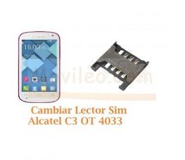 Cambiar Lector Sim Alcatel C3 OT4033 OT-4033 - Imagen 1