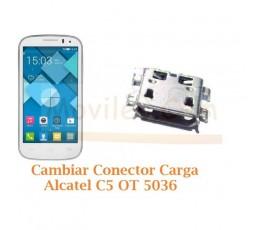 Cambiar Conector Carga Alcatel C5 OT5036 OT-5036 - Imagen 1