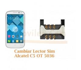 Cambiar Lector Sim Alcatel C5 OT5036 OT-5036 - Imagen 1