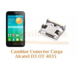 Cambiar Conector Carga Alcatel D3 OT4035 OT-4035 - Imagen 1