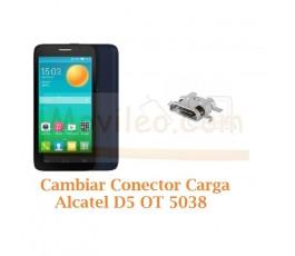 Cambiar Conector Carga Alcatel D5 OT5038 OT-5038 - Imagen 1