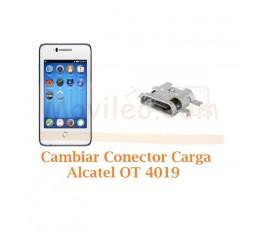 Cambiar Conector Carga Alcatel Fire C OT4019 OT-4019 - Imagen 1