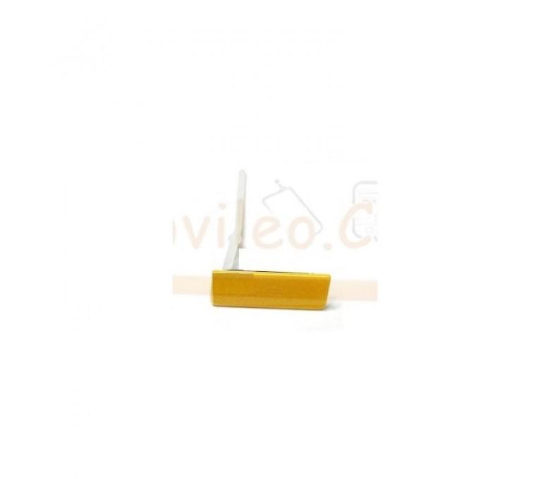 Tapa Amarilla Micro Usb para Sony Xperia Go, St27, St27i - Imagen 1