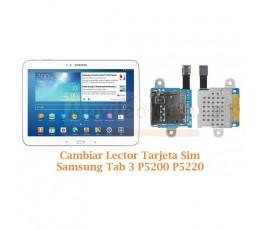 Cambiar Lector Tarjeta Sim Samsung Tab 3 P5200 P5220 - Imagen 1