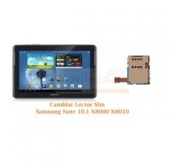 Cambiar Lector Tarjeta Sim Samsung Note 10.1 N8000 N8010 - Imagen 1