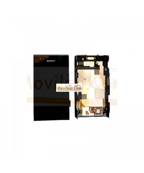 Pantalla Completa Negra Con Marco Negro Sony Xperia U, ST25I - Imagen 1
