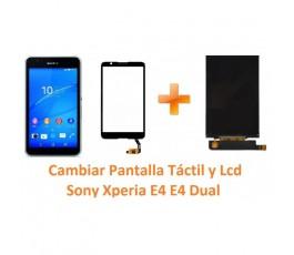 Cambiar pantalla táctil y lcd Sony Xperia E4 - Imagen 1