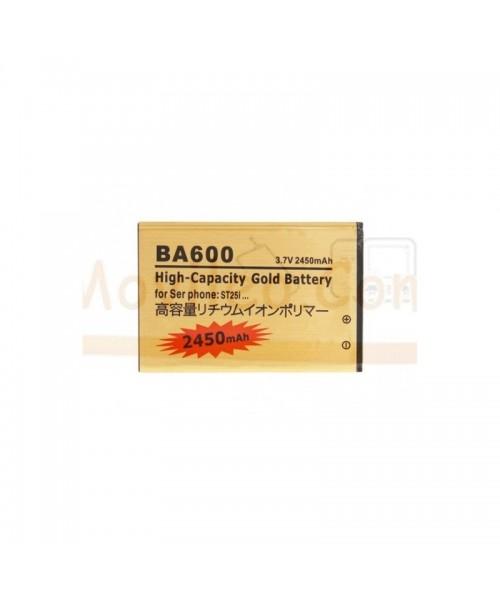 Bateria Gold de 2450mAh para Sony Xperia U ST25 BA600 - Imagen 1