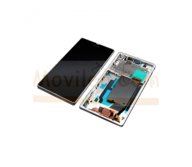 Pantalla Completa con Marco Blanco para Sony Xperia  Z L36 L36h C6602 C6603 - Imagen 1