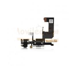 Cable flex con Conector de carga y conector de auriculares negro micrófono cable RF de iphone 5 - Imagen 1