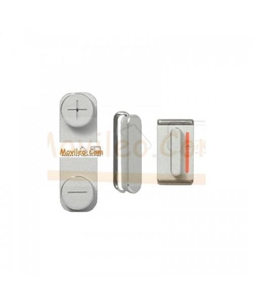 Set de 3 botones para iPhone 5 en Blanco - Imagen 1