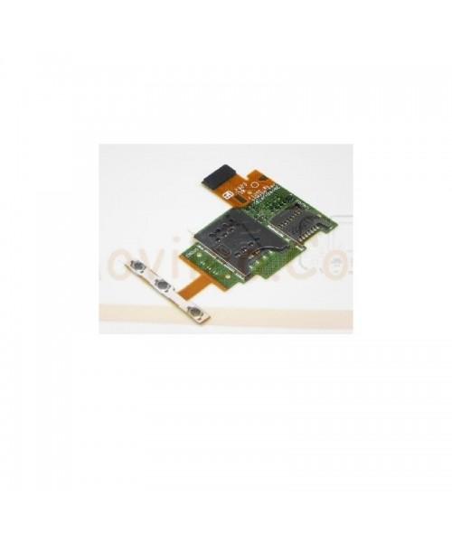 Modulo Lector Sim , Lector Micro Sd, Boton de encendido y Volumen para Sony Xperia J, St26, St26i - Imagen 1