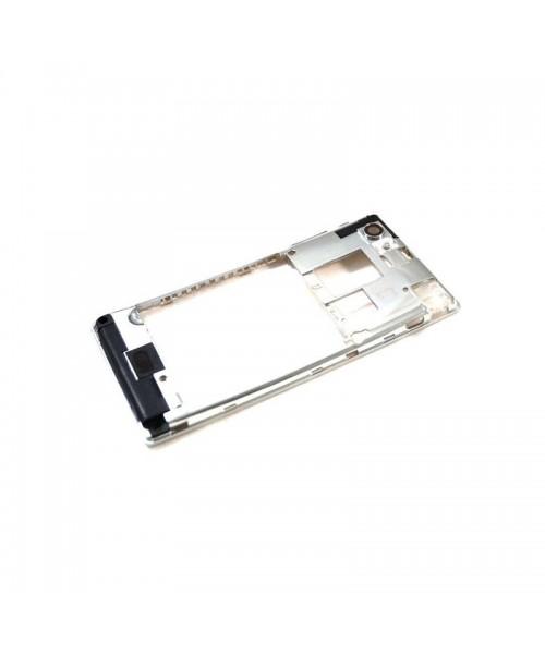 Carcasa Intermedia Con Cristal de Cámara y Botones para Sony Xperia J St26 - Imagen 1